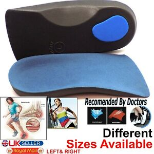 Orthotic Arch Support 3/4 Insoles For Plantar Fasciitis Fallen Arches Flat Feet