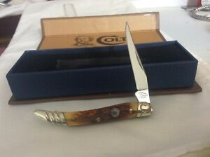 Real nice Colt Bonestag Tiny Texas Toothpick Knife never sharpened or used