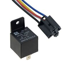 12v Automotive Changeover Relay With Socket Holders 40a 5-pin Car Bike Van