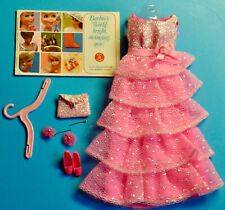 1969 Vintage Barbie ROMANTIC RUFFLES #1871 COMPLETE W/earrings VGUC