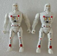 """TWO VINTAGE STAR WARS DARTH VADER - WHITE 6"""" 'BOOTLEG' FIGURES - MADE IN CHINA"""