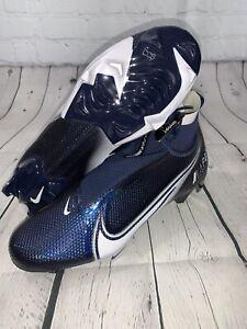 Nike Vapor Edge Pro 360 Football Cleats AO8277 403 Navy Blue White Mens Size 11