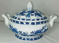 """Vienna Woods *BLUE ONION* 8"""" COVERED CASSEROLE/SERVING BOWL"""