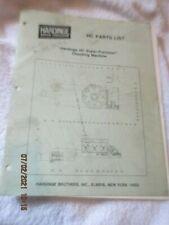 Hardinge Hc Super Precision Chucking Machine Parts List Manual Reference Book