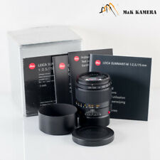 Leica Summarit-M 75mm/F2.5 Black Lens Yr.2008 Germany #259