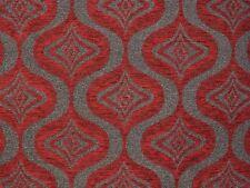 Tessuto Cinigliato Rosso Grigio Tortora mt. 0.50 x 1.40 - Chenille Fabric