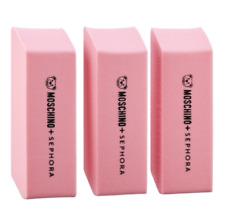 MOSCHINO + SEPHORA Eraser Sponges Limited-edition Set of 3 Sponges New & Sealed