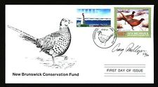 NEW BRUNSWICK NBW4e 1997 SIGNED FIRST DAY COVER PHEASANT BY CRAIG PHILLIPS