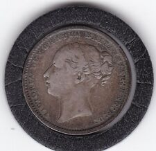 1885   Queen   Victoria   Sterling   Silver  Shilling  British Coin