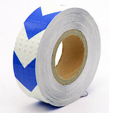 3M 10M 25M 38M Reflective Safety Warning Tape Film Sticker Roll Strip Arrow 5 CM