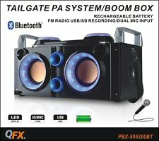 Qfx Pbx-505200bt Speaker System - 50 W Rms - Portable - Battery Rechargeable -