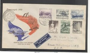 Netherlands 1950 Social & Cultural Charity Issue First Official FDC