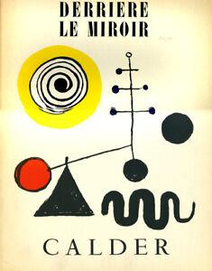 RARE JULY, 1950 DERRIERE LE MIROIR ALEXANDER CALDER  LITHOGRAPH