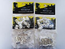 Hair Dreadlocks Bead Cuff Clip pack of 4 (48pcs) Hair Decoration Filigree Tube