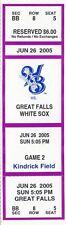 Ryan Braun First GAME Helena Brewers (Milwaukee) v. Great Falls Full Ticket Stub