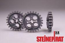 LEGO® 3x 3648 **NEU** Zahnrad 24 Zähne / dunkelgrau / Getriebe 24505 4514558
