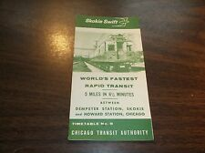 1964 CHICAGO TRANSIT AUTHORITY SKOKIE SWIFT PUBLIC TIMETABLE #8