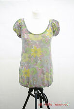 L054/42 Zara TRF Women's Floral Thin Shimmering Top , size M UK 10
