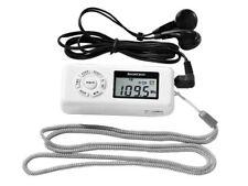 Silvercrest FM-UKW Scan Radio Taschenradio LC-Display mit Kopfhörer Weiss Neu