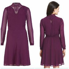 Marks and Spencer Polyester Midi Spotted Dresses for Women