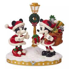 SANTA MICKEY & MINNIE MOUSE Light Up Figure/Figurine Disney Holiday 2019
