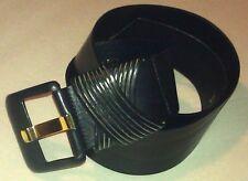 Jaeger Black Leather Ladies Belt 32