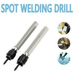 """3/8"""" 5/16"""" Double Sided Rotary Spot Weld Cutter Remover Welds Bit Set Drill J5L4"""