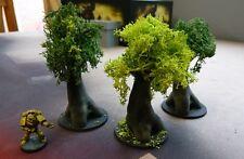 *SCENERY* 3 trees, 40K, Necromunda, Malifaux, Bolt Action, Warhammer, AoS