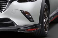 Genuine All New Mazda CX-3 Front Under Skirt Spoilers Lip Kit 2 pcs Soul Red