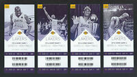 2016 NBA LOS ANGELES LAKERS NBA FINALS FULL TICKETS - 4 HOME GAMES - KOBE BRYANT