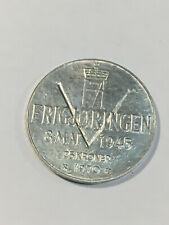 MONNAIE Norvège 25 Kroner Libération 1970 - ARGENT