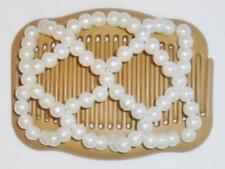 """Double Magic Hair Comb, Angel Wings Clips 4x3.5"""", African Butterfly, Pearls, MS7"""