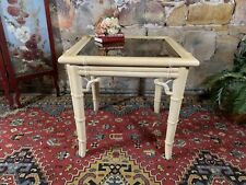 Vintage Chippendale Supper Table~Hollywood Regency~Bamboo Design~Rare