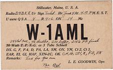 QSL card Stillwater Maine EE. UU. radio mapa radio w-1aml (80398