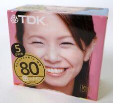 "TDK ""Faces"" 5-pack of blank minidisc mini disc sealed new JAPAN"
