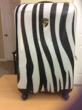 "Heys Fashion  ZEBRA Print  21"" Spinner Luggage w/TSA lock"