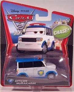 Disney Cars 2 Officer Murakarmi Airport Security Guard Chase Pixar + FREE gift