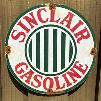 VINTAGE SINCLAIR GASOLINE PORCELAIN METAL SIGN GAS STATION PUMP PLATE ADVERTISIN