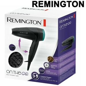 Remington 2000W Compact Travel Hair Dryer & Diffuser & Folding Handle D1500 UK
