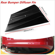 "22""x19""ABS Universal Rear Bumper 4 Fins Diffuser Fin Black Fit for BMW"