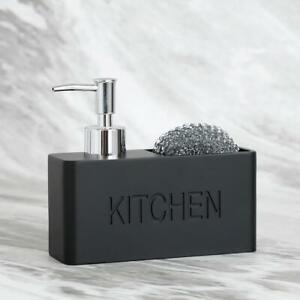 Modern Kitchen Soap Dispenser Set Soap and Sponge Dispenser Holder Pump Bottle
