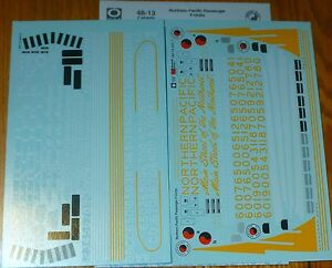 Microscale Decal O #48-13 (2 Sheet set) Northern Pacific Passenger F-Unit