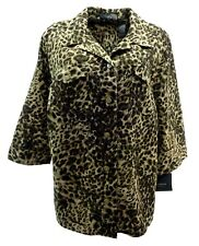 Liz Claiborne Women's Shirt Petite 20P Animal Print 3/4 Sleeve Button Up $54 New