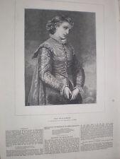 Viola por W S Herrick 1872 antiguos impresión mi ref S