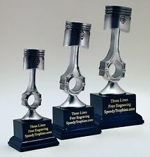 CAR SHOW PISTON RESIN SET TROPHIES - SHIPS IN 1 BUSINESS DAY! - FREE ENGRAVING!!