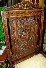 Very Fine Deeply Carved Figural  Side Chair 1800s  Chair 1