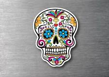 Sugar skull 1 day of the dead sticker 7 year water & fade proof vinyl car l pad