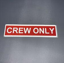 Crew Only® Aufkleber rot / weiß reflektierend Sticker neu Premium