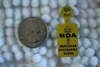 MDA Muscular Dystrophy Assn. Vintage Tab Foldover Pinback Button #23273