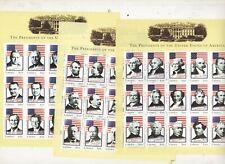 LIBERIA STAMPS  MNH mini sheets 44 US PRESIDENTS 35 1219